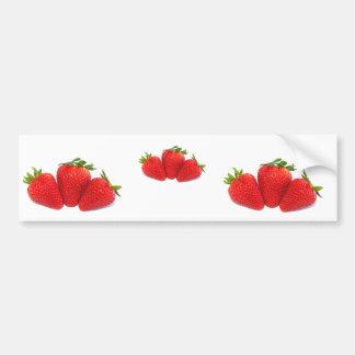 De stickers van de bumper met aardbeien
