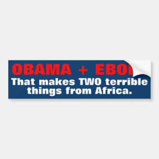De Stickers van de Bumper van Ebola van Obama