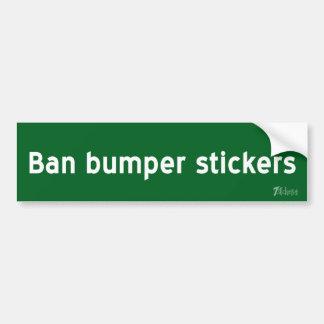 De Stickers van de Bumper van het verbod