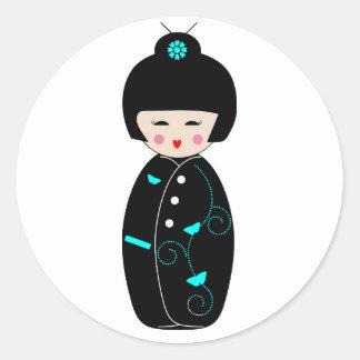 De Stickers van de Cartoon van de geisha