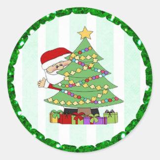 De Stickers van de Cartoon van de Kerstman en van