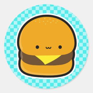De Stickers van de cheeseburger