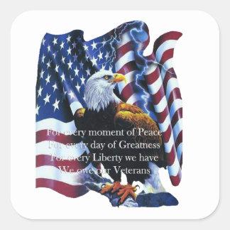 De Stickers van de Dag van de Veteranen van de