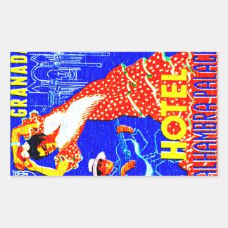 De Stickers van de Danser van het Flamenco van