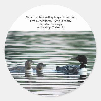 De Stickers van de duiker met citaat