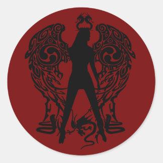 De Stickers van de Engel van het serpent
