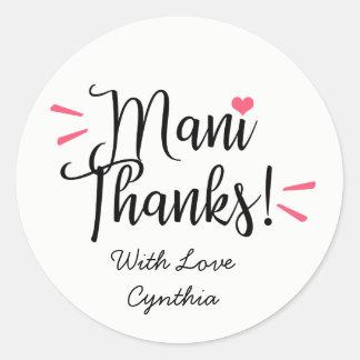 De Stickers van de Etiketten van het Bedankt van