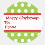De Stickers van de Gift van Chirstmas