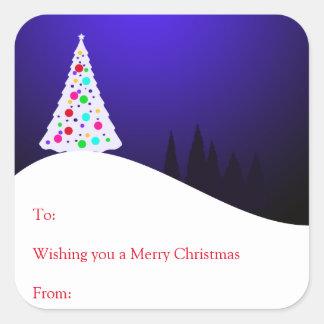 De Stickers van de Gift van de kerstboom