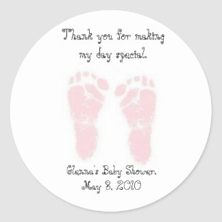 De Stickers van de Gunst van het baby shower