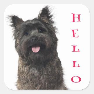 De Stickers van de Hond van het Puppy van Terrier