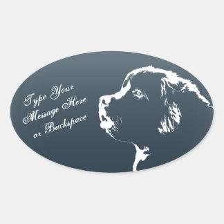 De Stickers van de Hond van Newfoundland van de