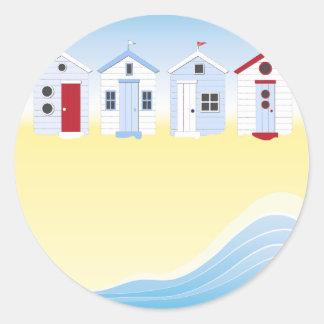 De Stickers van de Hutten van het strand