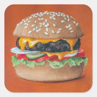 De stickers van de Illustratie van de hamburger