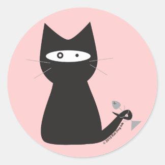 De Stickers van de Kat van Ninja