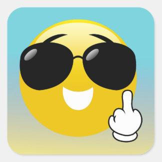 De Stickers van de middelvinger & van Emoji Ombre