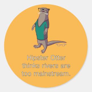 De Stickers van de Otter van Hipster