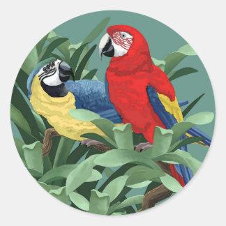 De Stickers van de papegaai