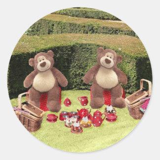 De Stickers van de Picknick van teddyberen