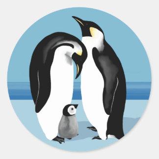 De Stickers van de pinguïn