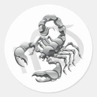 De Stickers van de schorpioen