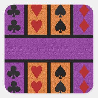 De stickers van de Speler van de kaart, passen aan