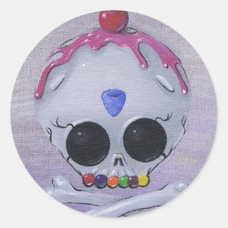 de stickers van de suikerschedel