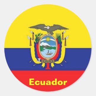 De stickers van de Vlag van Ecuador