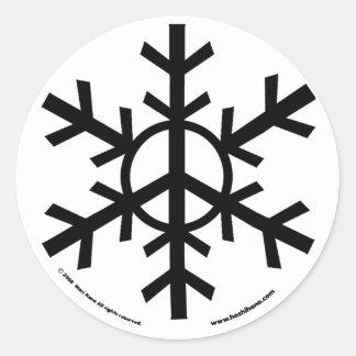 De stickers van de Vrede van de sneeuw - zwart