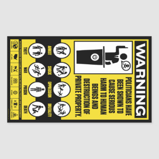 De Stickers van de Waarschuwing van de overheid