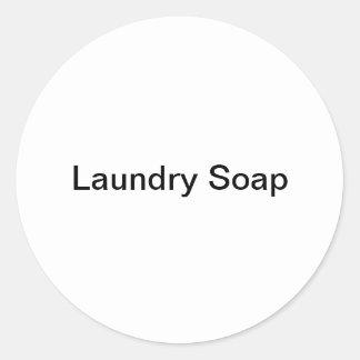 De Stickers van de Zeep van de wasserij