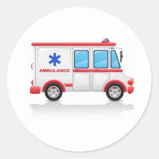 De Stickers van de ziekenwagen