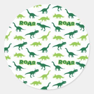 De Stickers van het Gebrul van de dinosaurus