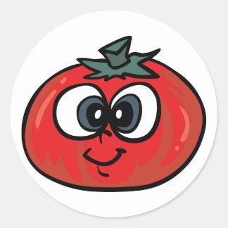 De Stickers van het Gezicht van de tomaat