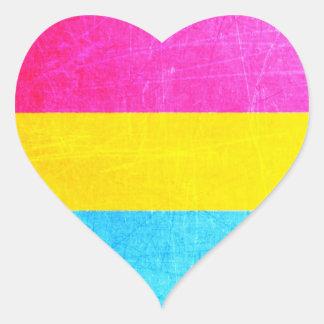 De Stickers van het Hart van Pansexual