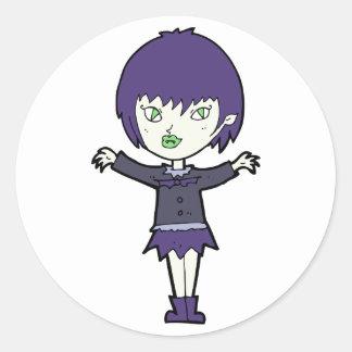 De Stickers van het Meisje van de vampier