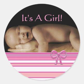 De Stickers van het Meisje van het baby met uw