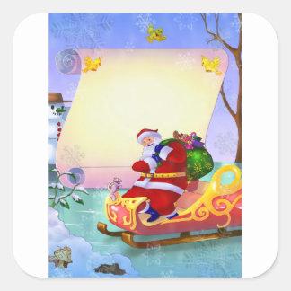 De stickers van het Nieuwjaar van Kerstmis met