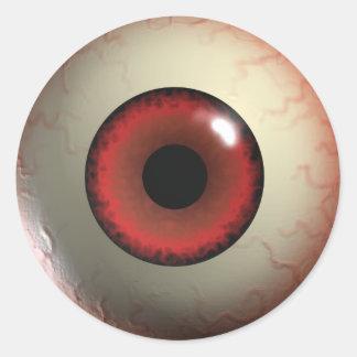 De Stickers van het Oog van de rode Duivel