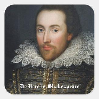 De Stickers van het Portret van Shakespeare