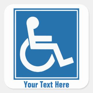De Stickers van het Teken van de handicap