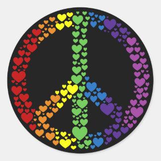 De Stickers van het Teken van de Vrede van de