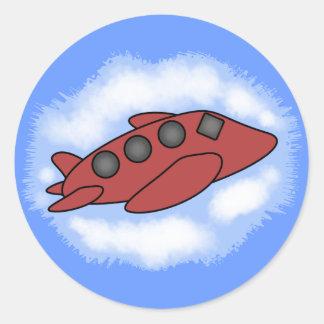 De Stickers van het vliegtuig