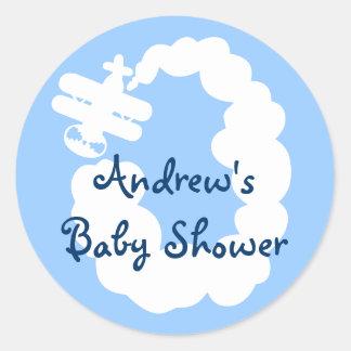 De stickers van het vliegtuig voor baby shower