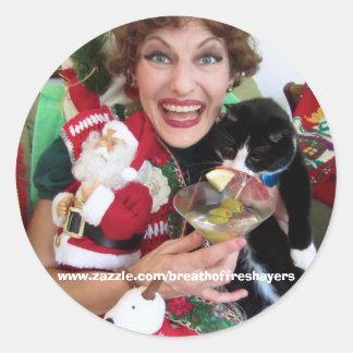 De Stickers van Kerstmis van Edna!