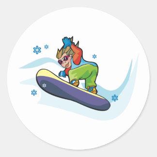 De Stickers van Snowboarding