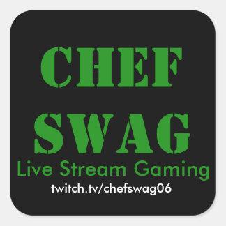 De Stickers van Swag van de chef-kok