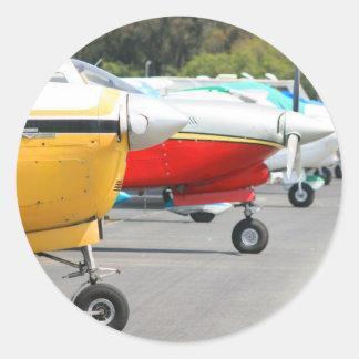 De stickers van vliegtuigen