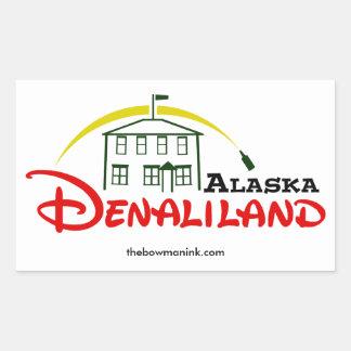 De stickersblad van Denaliland van vier Rechthoekige Sticker