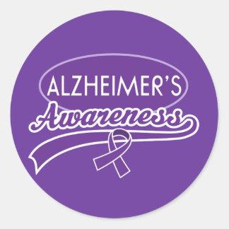 De stickerverbindingen van het Lint van Alzheimer Ronde Sticker